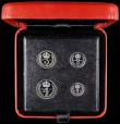 London Coins : A160 : Lot 2364 : Maundy Set 2013 nFDC with very minor tone spots, in the red Royal Mint box of issue