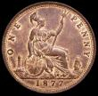London Coins : A160 : Lot 2423 : Penny 1877 Freeman 91 dies 8+J UNC or near so with traces of lustre