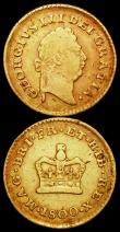 London Coins : A160 : Lot 2709 : Third Guineas (2) 1800 S.3738 VG/About Fine with some old scratches on the reverse, 1804 S.3740 Good...
