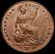 London Coins : A160 : Lot 2997 : Penny 1858 the 8 struck overstrike, the underlying figure unclear,  Gouby CP1858Ga, EF with a hint o...