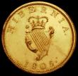 London Coins : A160 : Lot 3300 : Ireland Halfpenny 1805 Gilt Proof S.6621 EF with some spots