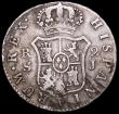 London Coins : A161 : Lot 1125 : Cuba 2 Reales Lattice countermark on Spanish undated (1841) KM#6 (countermark on KM#460.3, note the ...