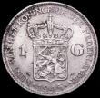 London Coins : A161 : Lot 1281 : Netherlands 1 Gulden 1945 P Acorn Privy Mark KM#161.2 EF/GEF with some spots, the reverse with some ...