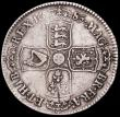 London Coins : A161 : Lot 1708 : Halfcrown 1685 PRIMO ESC 493, Bull 748,  Bold Fine with a flan flaw on the French shield