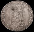London Coins : A161 : Lot 1709 : Halfcrown 1689 First Shield, Caul and Interior frosted, with pearls ESC 503, Bull 826 NVF with some ...