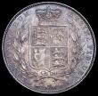 London Coins : A161 : Lot 1729 : Halfcrown 1845 the 4 struck over a taller 4, beautifully toned GEF/Unc