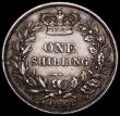 London Coins : A161 : Lot 1868 : Shilling 1848 8 over 6 ESC 1294, Bull 2994, unusual in that the 6 seems on top of the last 8 in part...