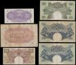 London Coins : A161 : Lot 255 : East African Currency Board (6), 1 Shilling dated 1943, (Pick27) good VF, 5 Shillings dated 1943, (P...
