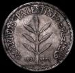 London Coins : A162 : Lot 1256 : Palestine 100 Mils 1931 KM#7, Fine, Toned with some dirt in the legend, the key date in this series