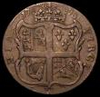 London Coins : A162 : Lot 1307 : USA Halfpenny 1773 Virginia, Stop after S, Breen 180 Fine/Good Fine with a gentle edge bruise