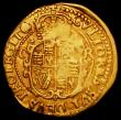 London Coins : A162 : Lot 1592 : Gold Crown Charles I Group B/C mule, Reverse with Oval shield and CR at sides S.2713A mintmark Rose ...