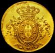 London Coins : A162 : Lot 1649 : Brazil 6400 Reis Gold 1806R KM#236.1 VF with signs of a mount being attached at the top of the obver...