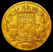 London Coins : A162 : Lot 1654 : France 20 Francs Gold 1830A Charles X KM#726.1 Good Fine, the edge showing signs of having been in j...