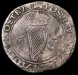 London Coins : A162 : Lot 1671 : Ireland Shilling Philip and Mary 1555 S.6500 mintmark Portcullis, approaching Fine for this base sil...