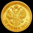 London Coins : A162 : Lot 1691 : Russia 10 Roubles Gold 1902AP Y#64 NEF/EF