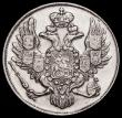 London Coins : A162 : Lot 1692 : Russia 3 Roubles Platinum 1830 CПБ Bitkin 75, C#177 VF a rare issue and seldom offered