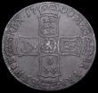 London Coins : A162 : Lot 1717 : Crown 1700 DECIMO TERTIO D of DECIMO over reversed D, ESC 98, Bull 1011 VG/NF with even grey toning,...
