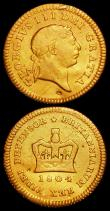 London Coins : A162 : Lot 1818 : Half Guinea 1804 S.3737 GF/NVF lightly cleaned, Ex-Reeves Auction 3/2/1978 Lot 1688, Third Guinea 18...