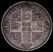 London Coins : A162 : Lot 2178 : Crown 1847 Gothic UNDECIMO NEF/EF with some small edge nicks