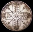 London Coins : A162 : Lot 2203 : Double Florin 1887 Arabic 1 Proof UNC toned with light hairlines and small contact marks in the obve...