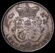 London Coins : A162 : Lot 2307 : Halfcrown 1820 George IV ESC 628, Bull 2357 A/UNC and attractively toned with a few trivial hairline...