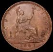 London Coins : A162 : Lot 2429 : Penny 1861 Freeman 29 dies 6+D Toned UNC or near so with a trace of lustre