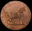 London Coins : A162 : Lot 868 : Halfpenny 18th Century Middlesex - Pidcock's undated, Obverse : Elephant, Reverse: Two-Headed C...