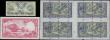 London Coins : A163 : Lot 1552 : Scotland (6), Union Bank, an uncut sheet of 4 printers proof £1 all dated 8th December 1952, (...