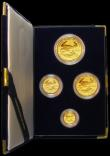 London Coins : A163 : Lot 2022 : USA Gold Proof Set 1988 (4 coin set $50, $25, $10, $5 Ounce, Half Ounce, Quarter Ounce, Tenth Ounce)...