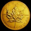 London Coins : A163 : Lot 2055 : Canada 50 Dollars 2002 Gold Maple Leaf, One Ounce Lustrous UNC with some minor contact marks