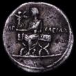 London Coins : A163 : Lot 210 : Denarius Octavian 29-27 BC. Italy, uncertain mint, 3.61g. Laureate bust of Octavian right, as Jupite...