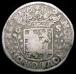 London Coins : A163 : Lot 2510 : Netherlands - Kingdom 6 Stuivers countermarked issue (1693) countermark bundle of Arrows, on host co...