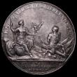London Coins : A163 : Lot 44 : Battle of Blenheim 1704 34mm diameter in silver by J.Croker Eimer 409 Obverse:- Bust left, draped, A...