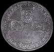London Coins : A163 : Lot 577 : Halfcrown 1703 VIGO ESC 568, Bull 1357, NVF/VF with old grey tone and some light haymarking