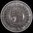 London Coins : A163 : Lot 647 : Halfcrown 1887 Jubilee Head Proof, ESC 720, Bull 2772, Davies 641 dies 2A, minor hairlines, nFDC and...