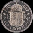 London Coins : A163 : Lot 683 : Halfcrown 1953 Proof, Obverse 1 Reverse A. Obverse 1 I of DEI point to a space. Weakly Struck first ...