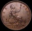 London Coins : A164 : Lot 1269 : Penny 1870 Freeman 60 dies 6+G, Gouby BP1870Ac, 12 teeth date spacing, A/UNC  and nicely toned, the ...