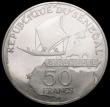 London Coins : A164 : Lot 263 : Senegal 50 Francs 1975 25th Anniversary of the Eurafrique Programme Silver Proof KM#5 nFDC with a sl...