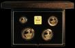 London Coins : A164 : Lot 35 : Britannia Gold Proof Set 1996 the 4-coin set comprising £100 One Ounce, £50 Half Ounce, ...