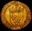 London Coins : A164 : Lot 369 : France Ecu d'Or au soleil Francis I undated (1515-1547) Crowned F's in alternate angles, F...