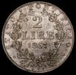 London Coins : A164 : Lot 410 : Italian States - Papal States 2 Lire 1867 XXIIR KM#1379.2 Choice UNC the obverse lustrous, the rever...