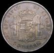 London Coins : A164 : Lot 505 : Spain 5 Pesetas 1885 (87) MP-M KM#688 NEF toned