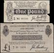 London Coins : A165 : Lot 1 : Treasury Bradbury (4) group comprising One Pound T3.3 First Issue August 1914 tears with small missi...