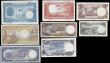 London Coins : A165 : Lot 1200 : Equatorial Guinea (8) including 100 Bipkwele Pick 14 dated 3rd August 1979 serial number 6015252, da...