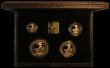 London Coins : A165 : Lot 1472 : Britannia Gold Proof Set 1990 the 4-coin set S.PBG07 FDC in the black box of issue with certificate,...