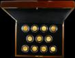 London Coins : A165 : Lot 1510 : Fifty Pence, The London 2012 50p Gold Proof Piedfort Olympic Gold Medal Winners Set, a spectacular 1...