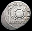 London Coins : A165 : Lot 2059 : Roman Denarius Augustus (c.19-18BC) Colonia Patricia Mint, Obverse: Bare head of Augustus right, CAE...