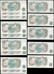 London Coins : A165 : Lot 210 : One Pound (14) Fforde 1967 issue (9) - a consecutively numbered set of 2 B305 - series T50L 888924 a...
