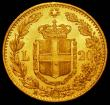 London Coins : A165 : Lot 2219 : Italy 20 Lire Gold 1882R KM#21 GEF and lustrous with some contact marks
