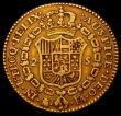 London Coins : A165 : Lot 2279 : Spain 2 Escudos Gold 1802 KM#435.1 Near Fine/Fine with a small dig in the obverse field